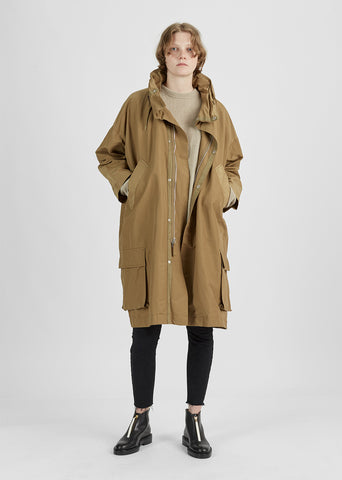 Cotton-Blend Grosgrain Parka