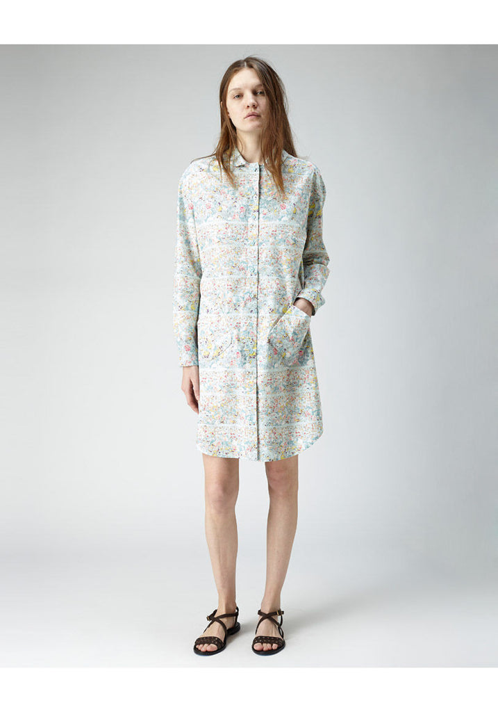 Floral Printed Shirtdress