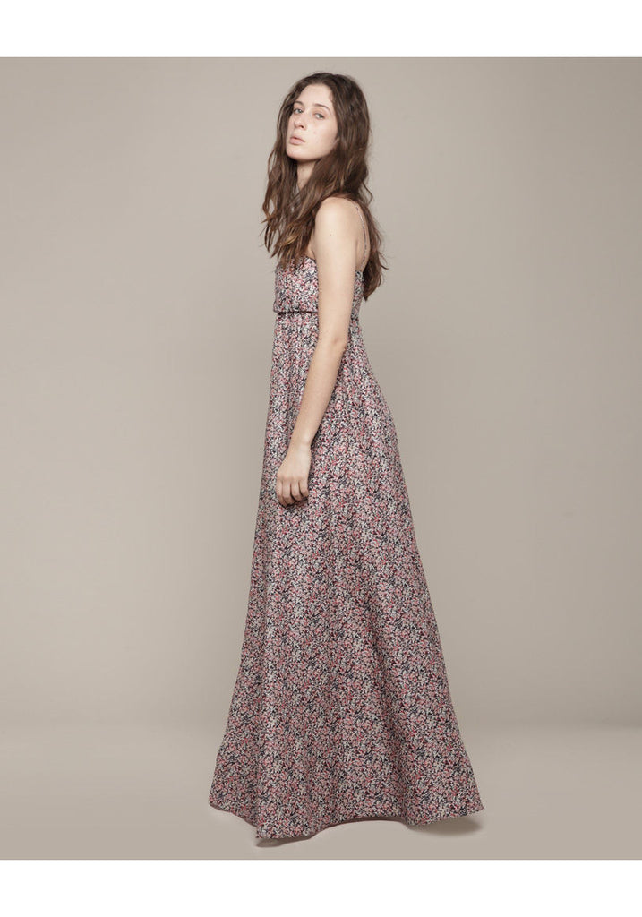 Long Printed Voile Dress