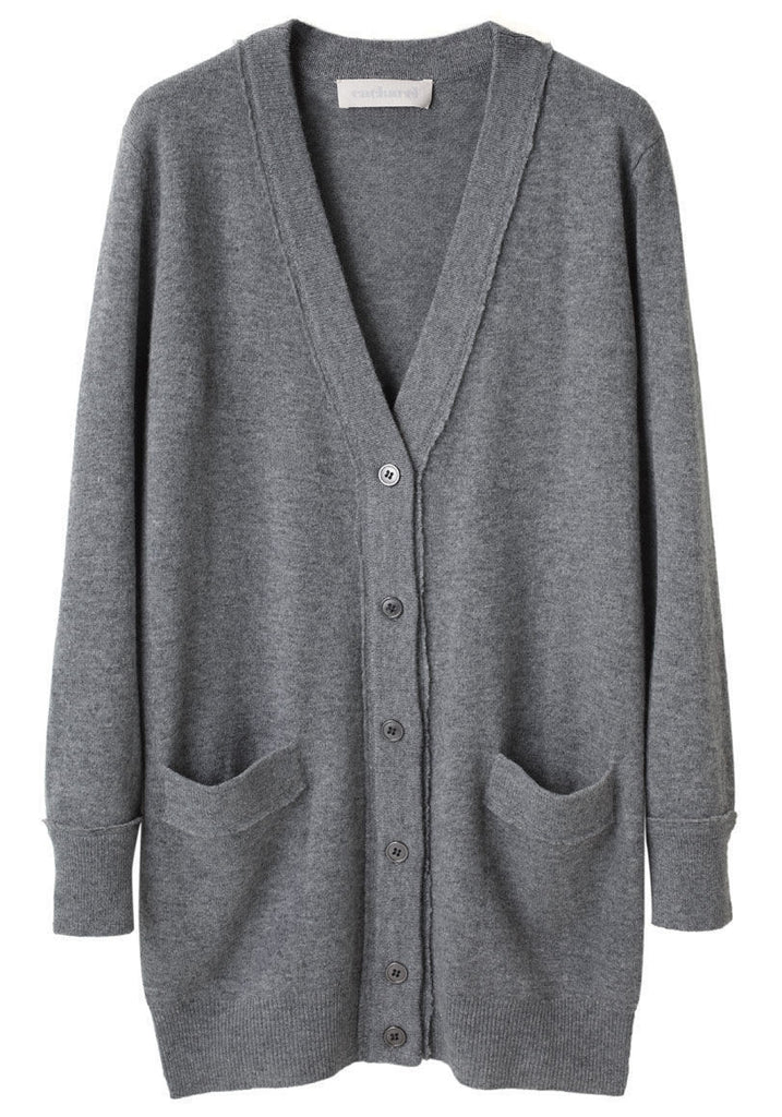 Long V-Neck Cardigan