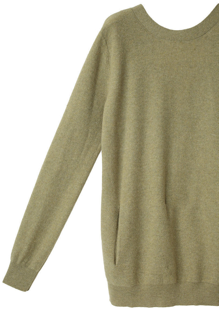 Low Back Cashmere Sweater