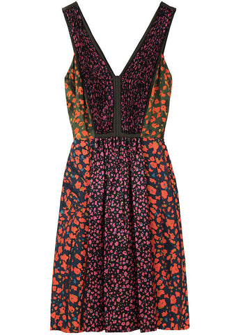 Patchwork Floral Dress
