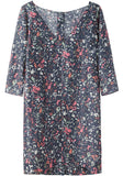 Printed Voile Shirtdress