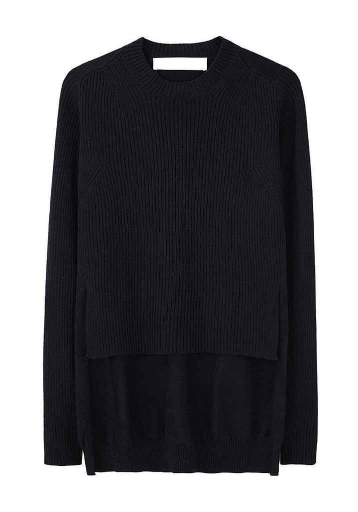 Shirttail Rib Sweater