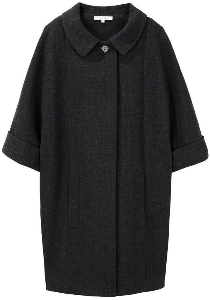 3/4 Sleeve Cape Coat