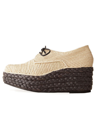 Braided Wedge Oxford