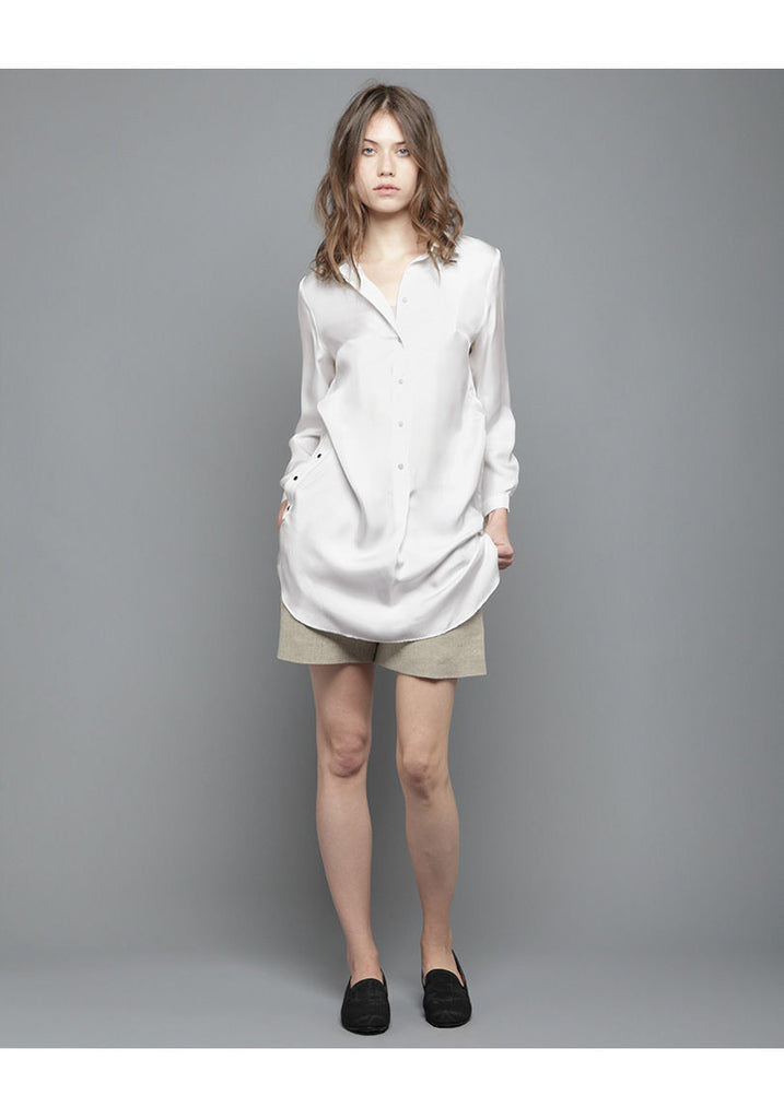 Buttoned Silk Tunic