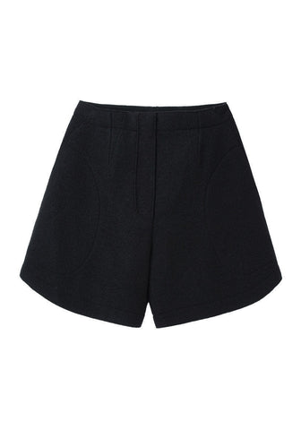 Crushed Wool Shorts