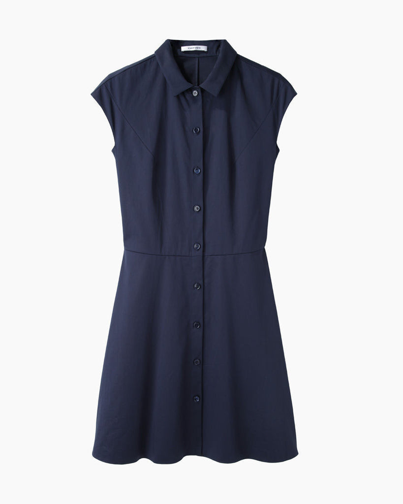 Flared Cotton Shirtdress