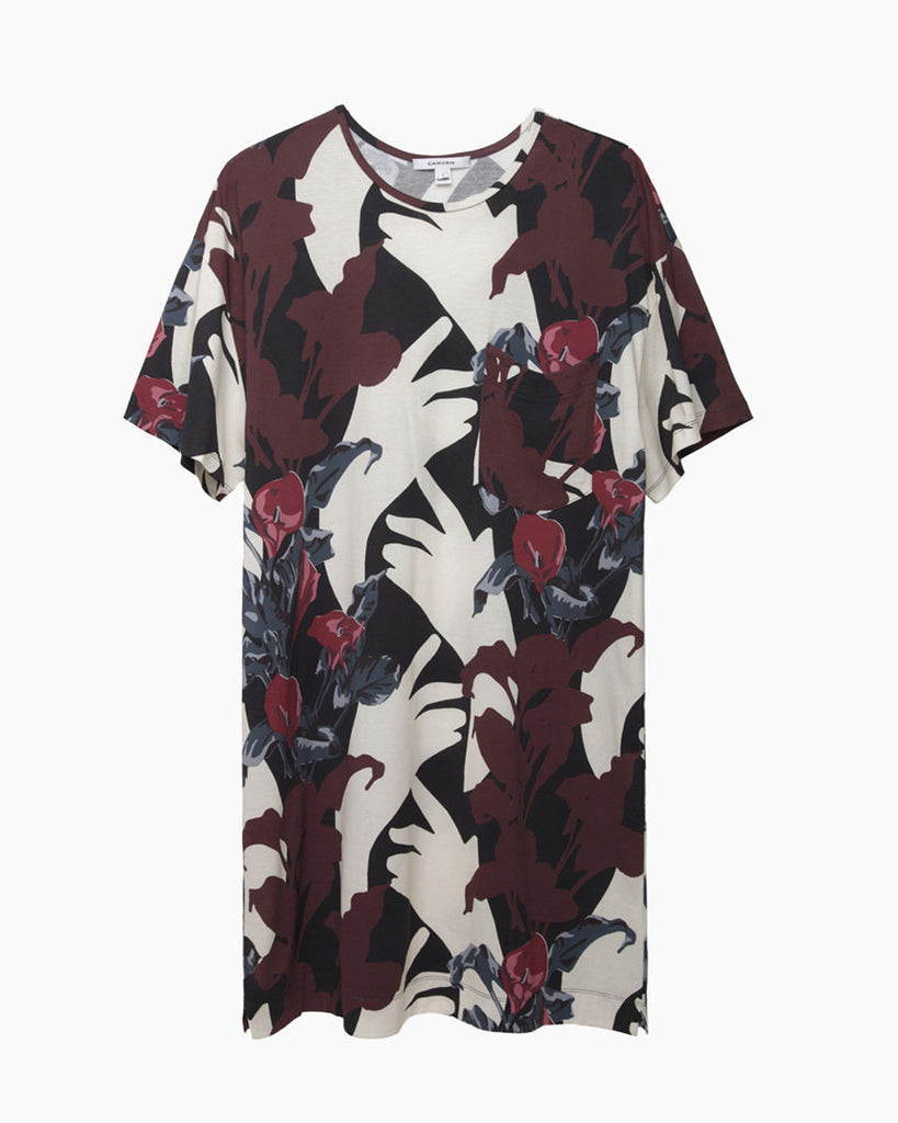 Floral Printed T-Shirt Dress