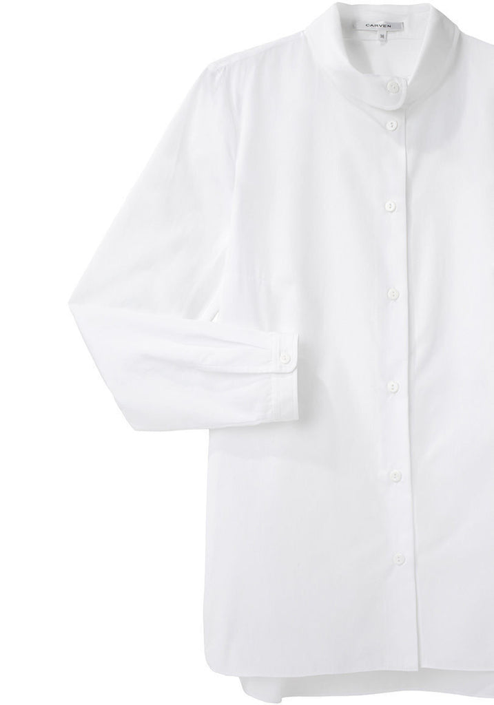 Long Sleeve Round Collar Shirt