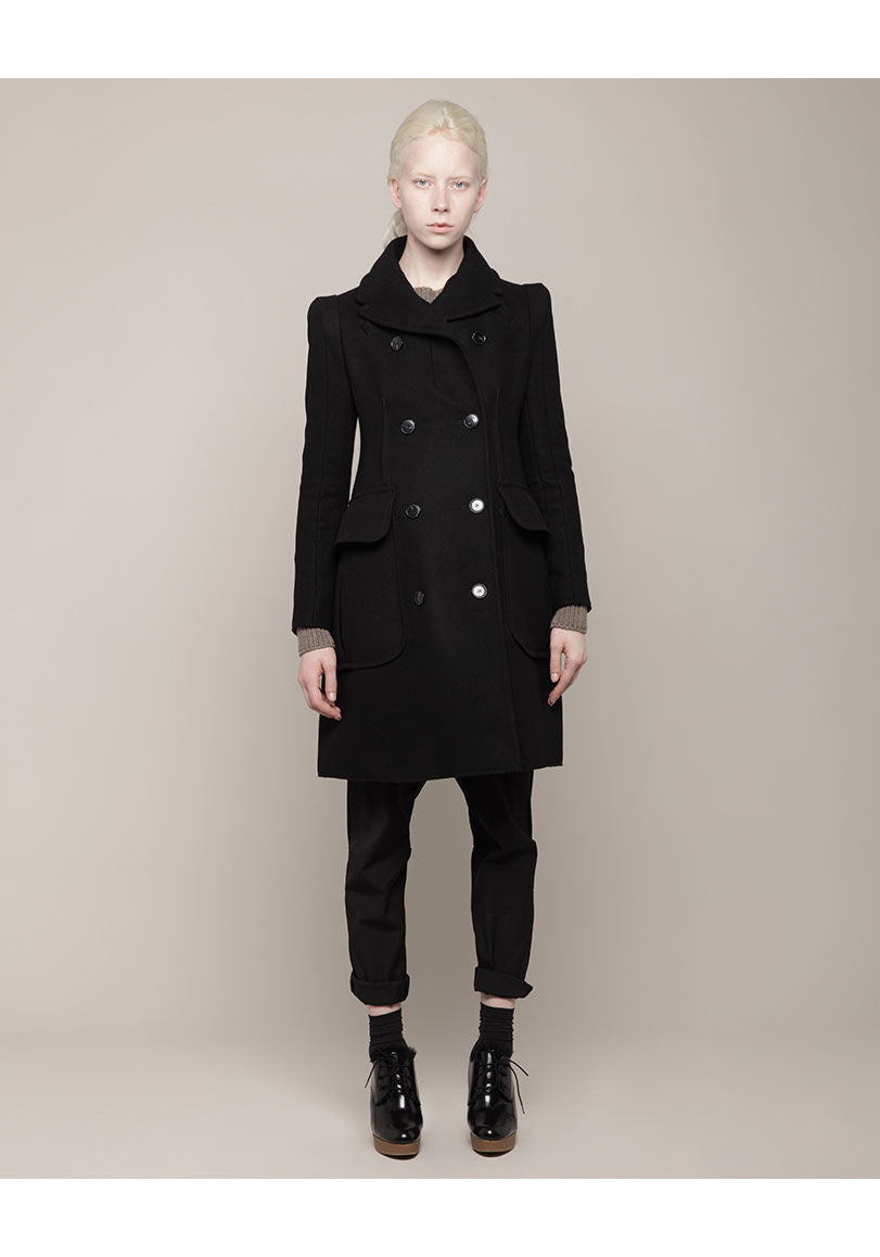 Patch Pocket Wool Coat