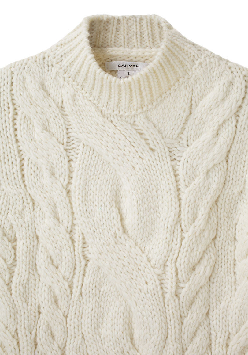 Short Cable Sweater
