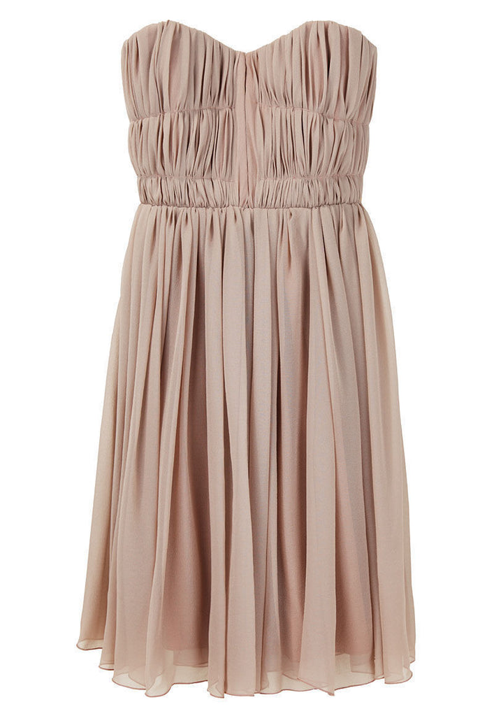 Silk Chiffon Bustier Dress