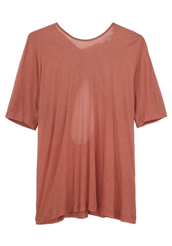 Twisted Drape Back T-Shirt