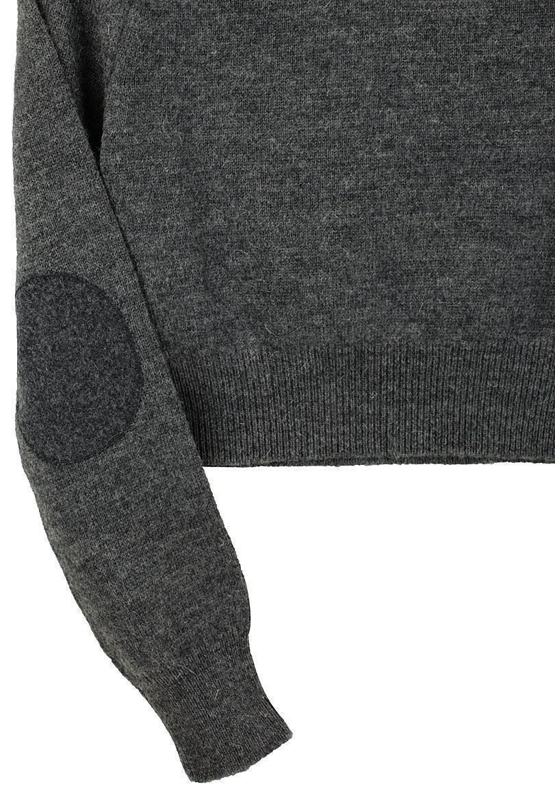 Wool Crew Neck w/ Elbow Patch