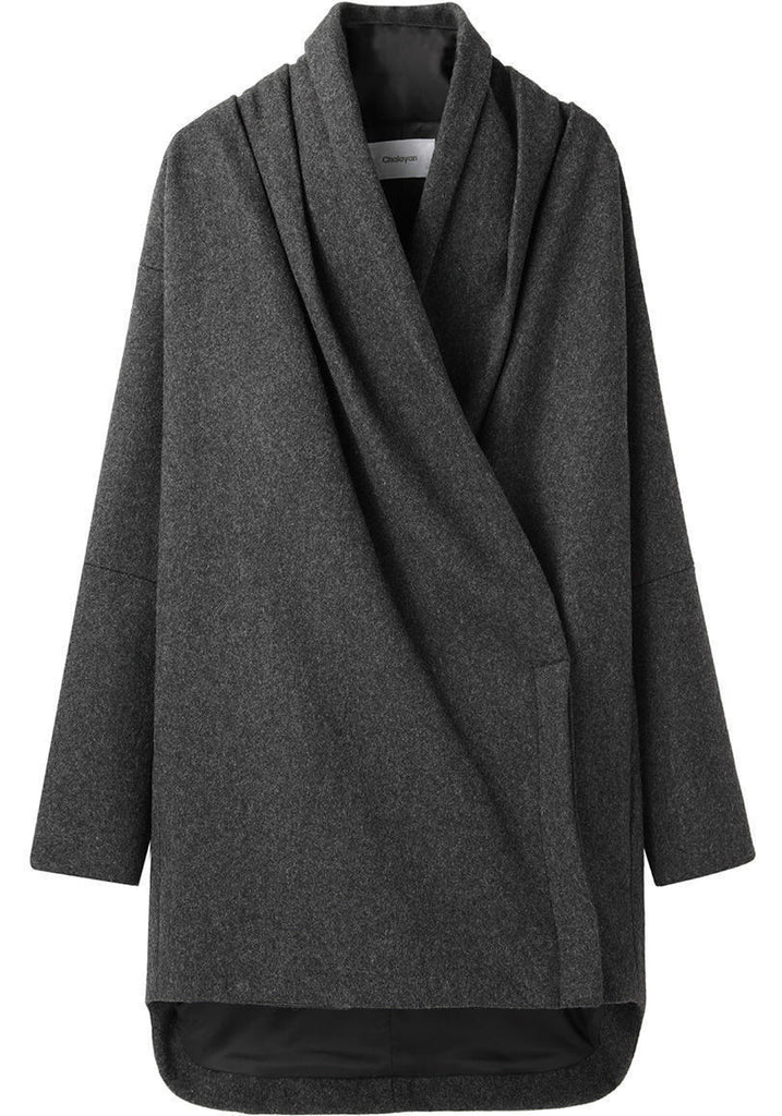 Scarf Neck Coat