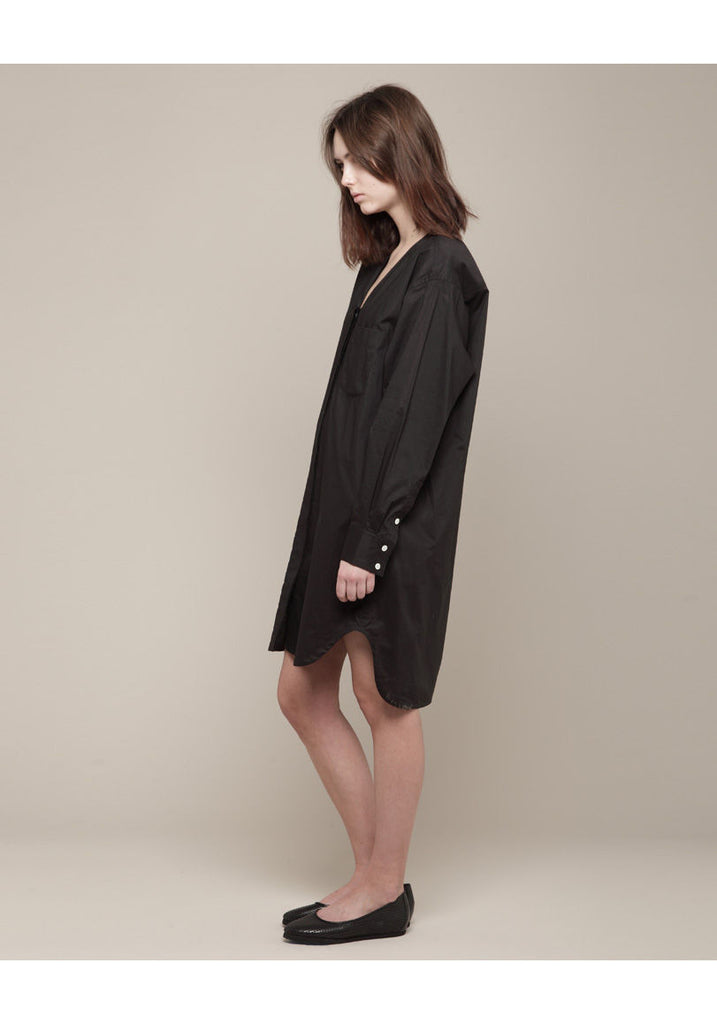 Oversized V-Neck Shirtdress