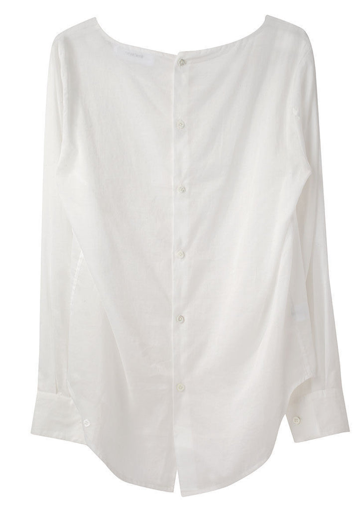 Sheer Button Back Blouse