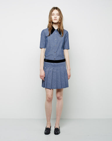 Carole Pleated Chambray Mini