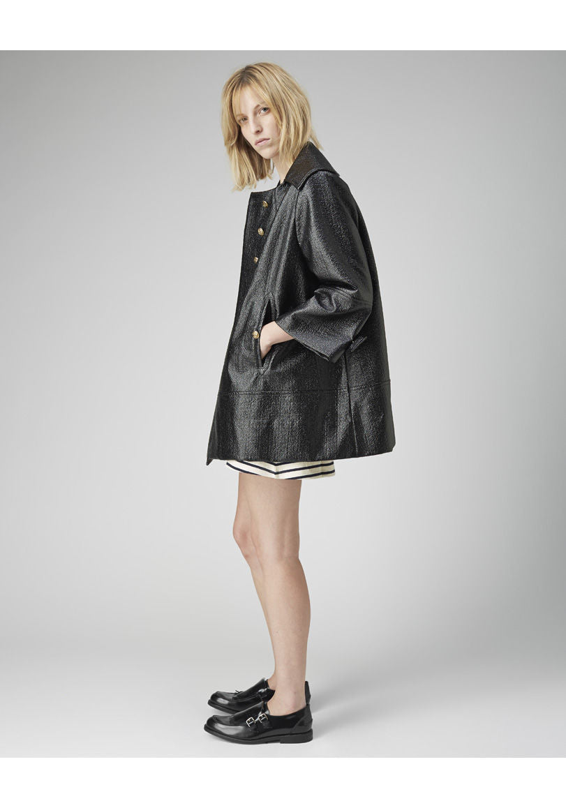 Coated Wool Jacket