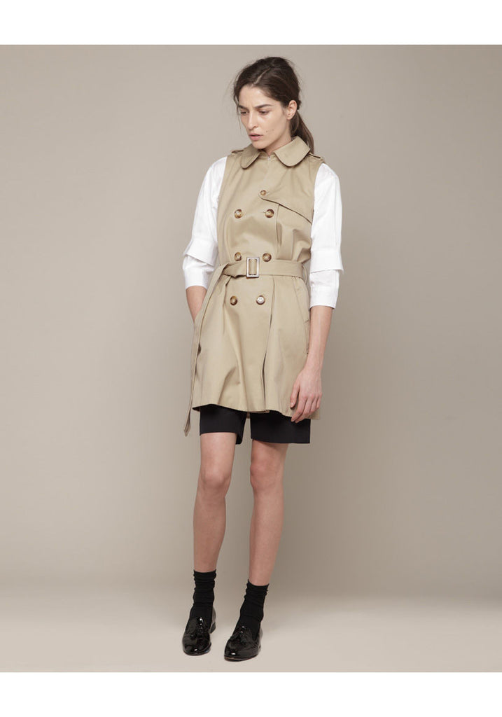 Eugenie Sleeveless Trench