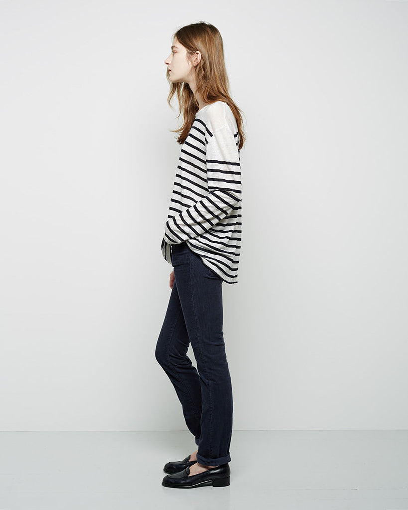 The Long Sleeve Striped Linen Shirt