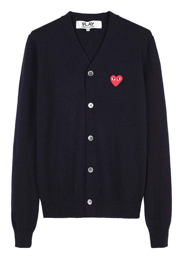 Men's Red Emblem Cardigan
