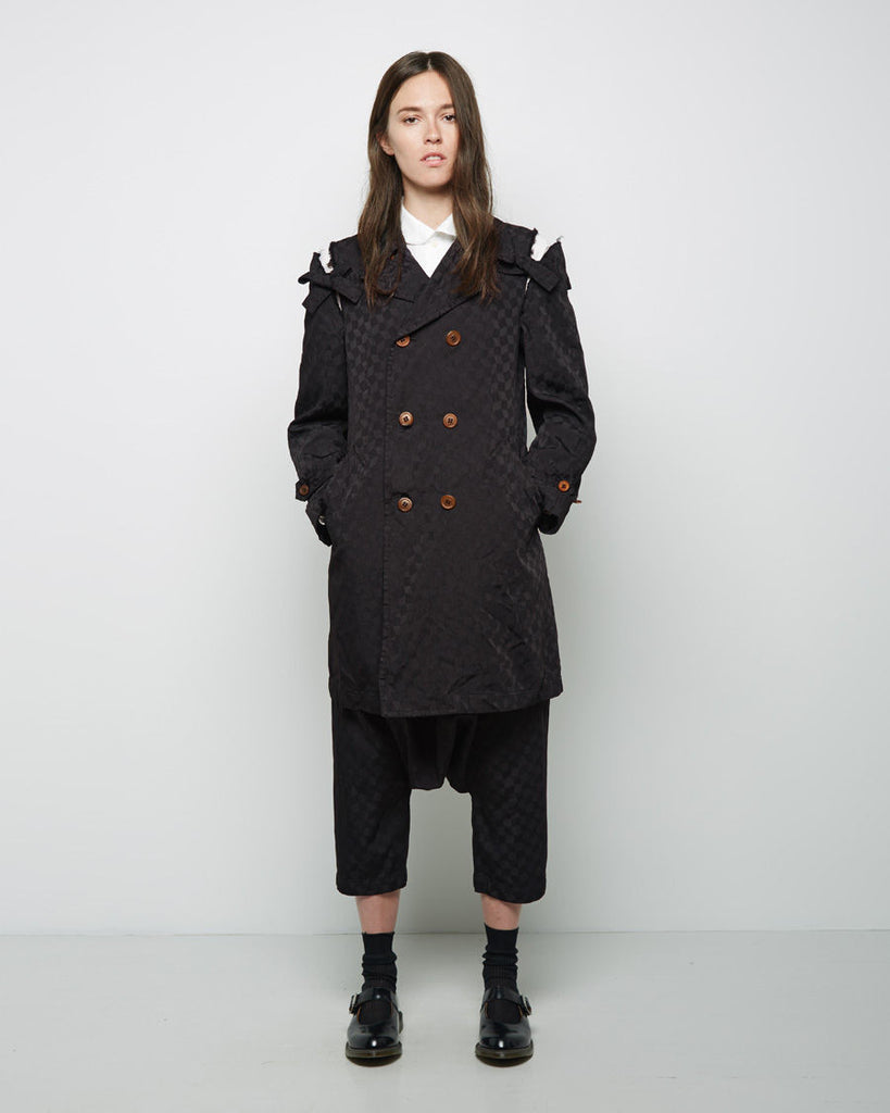 Geometric Jacquard Trench