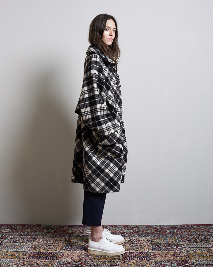 Round Collar Wool Coat