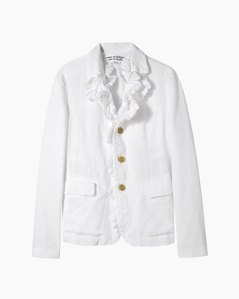 Ruffled Oxford Blazer