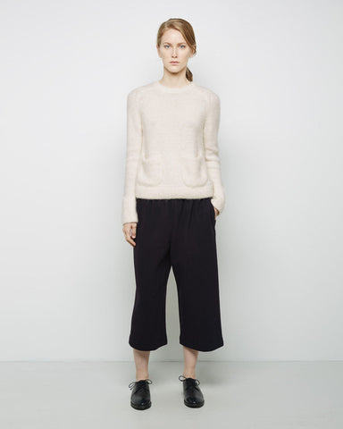 Wool Flannel Drawstring Pant