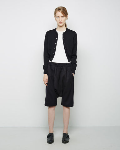 Drop Crotch Wool Shorts