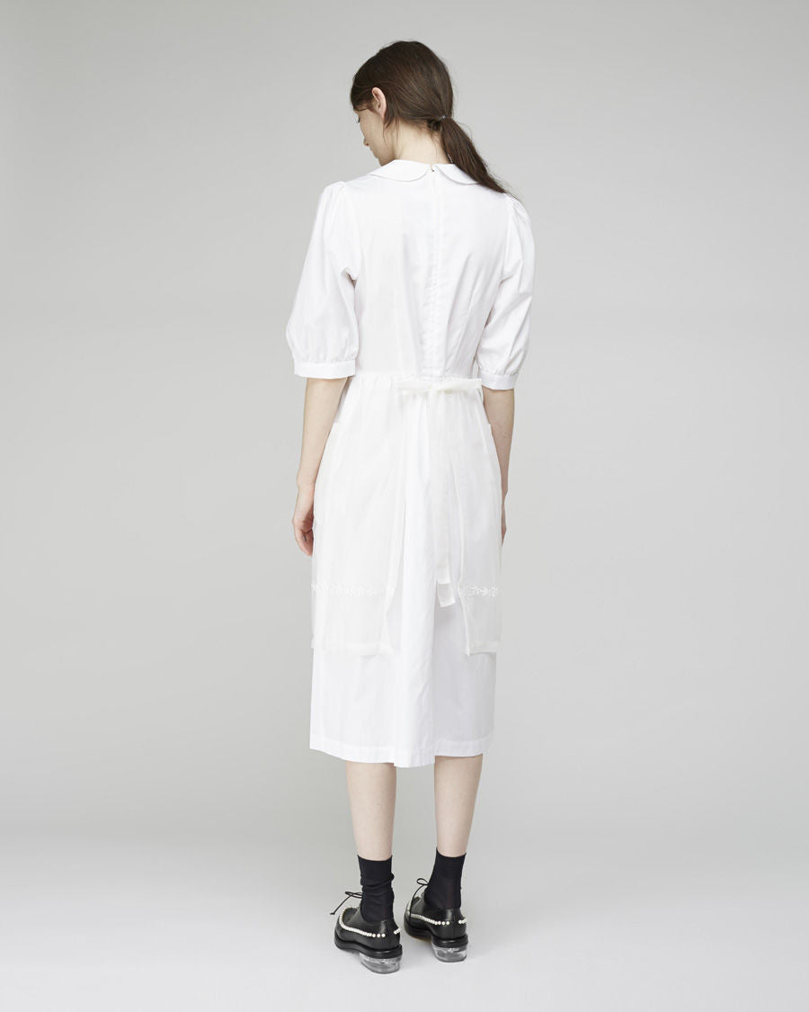 Embroidered Apron Shirtdress