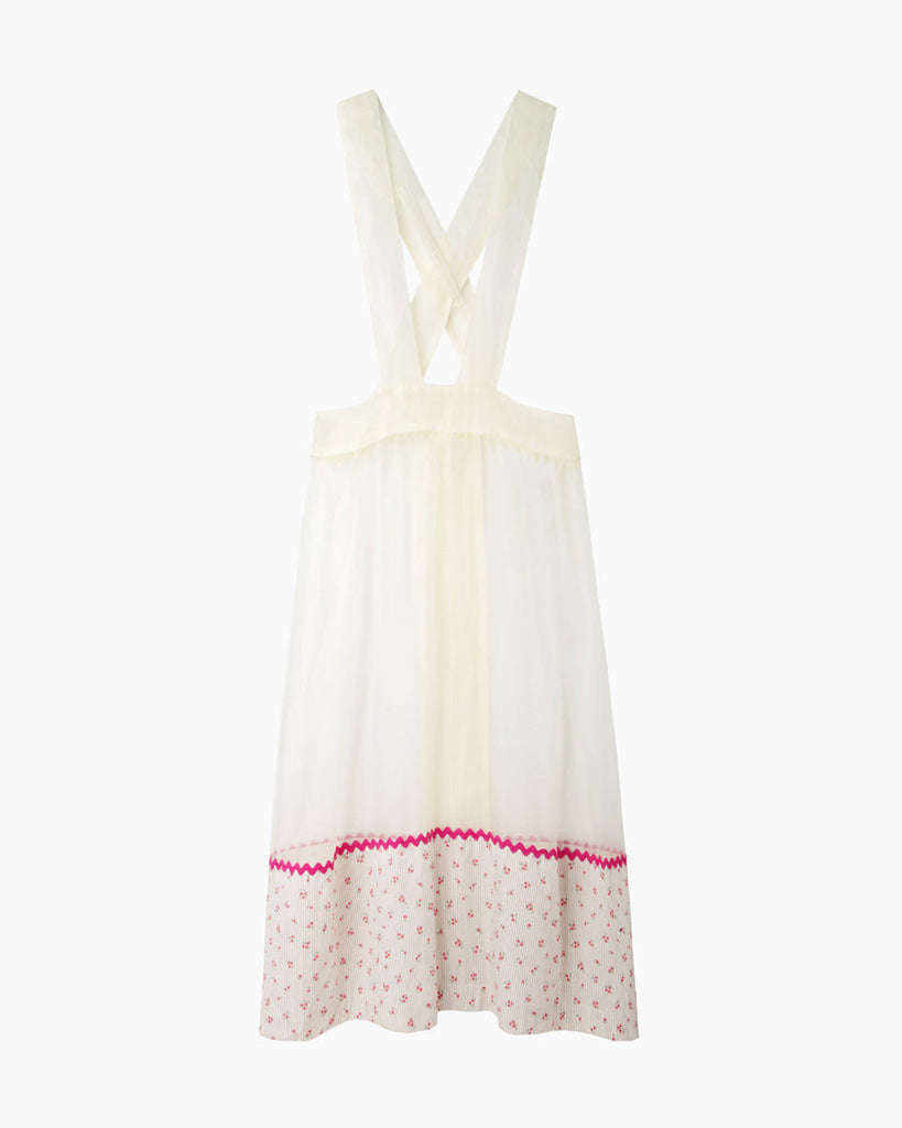 Flowers And Stripes Organdy Apron
