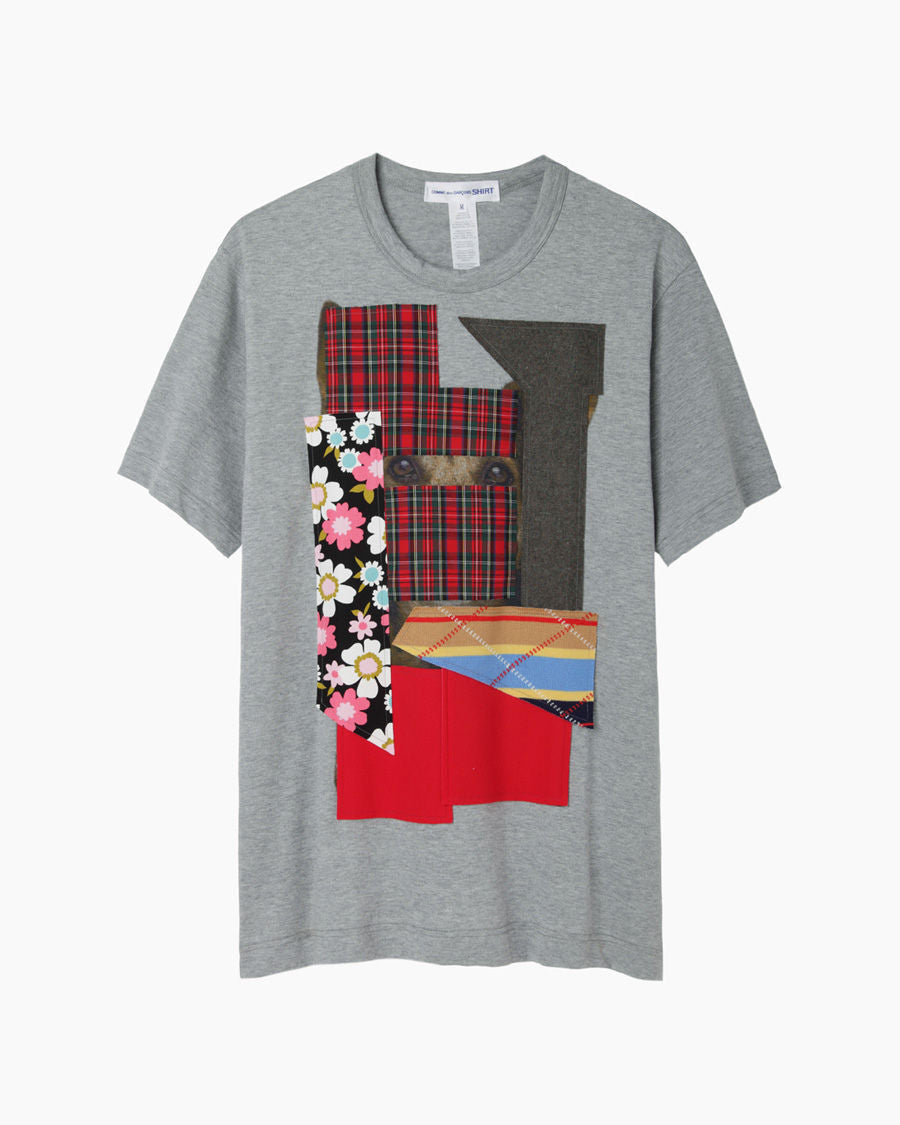 Dog Print Patchwork T-Shirt