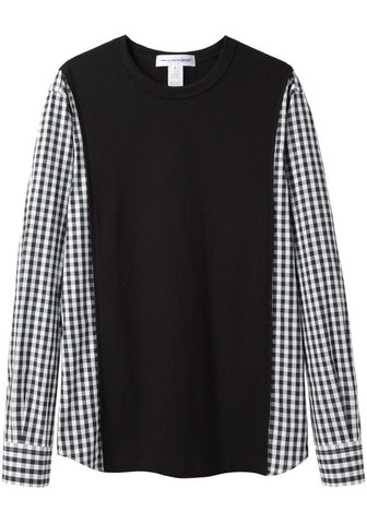 Gingham Sleeve Combo T-Shirt