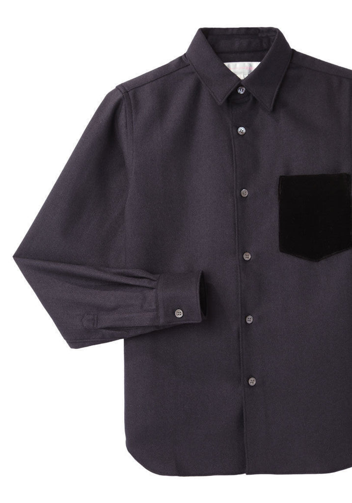 Velvet Pocket Shirt