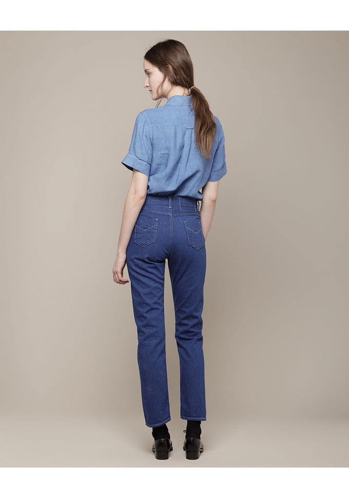 One-Washed Denim Pants