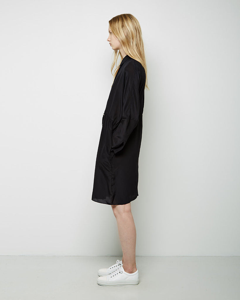 Peg Silk Crepe Shirtdress