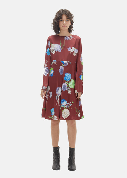 Dahari Flower Print Dress