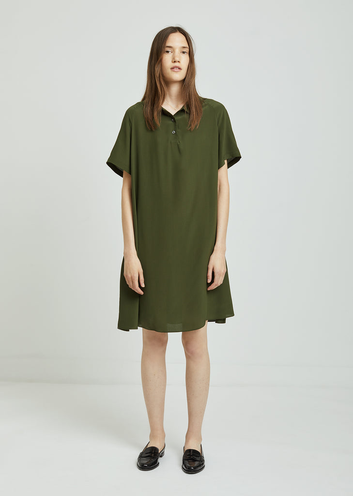 Silk Polo Dress