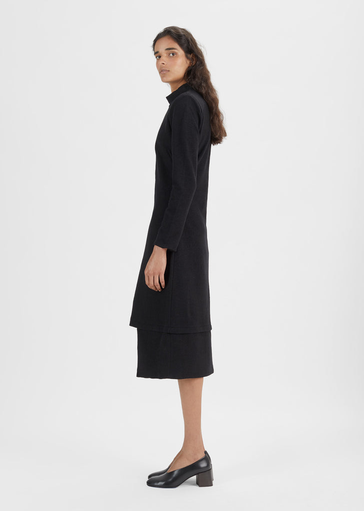 Cotton Wool Mockneck Dress