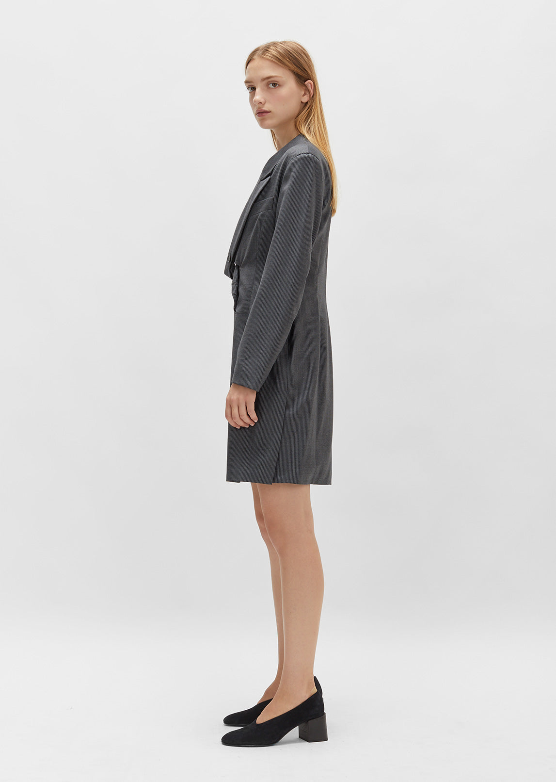 Pinstripe Blazer Dress