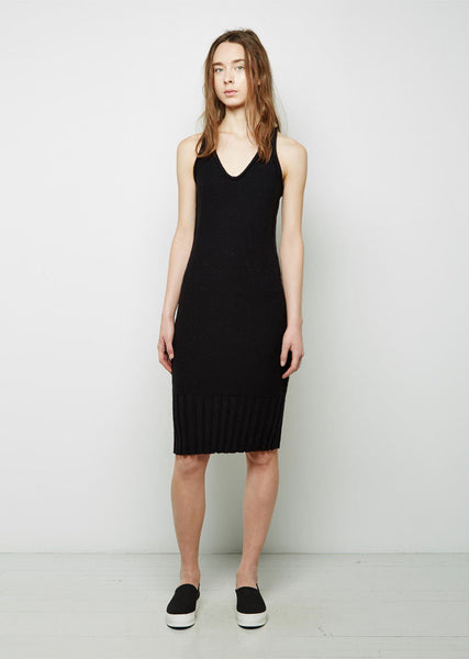 T by Alexander Wang Cotton Knit Sleeveless Dress La Garconne