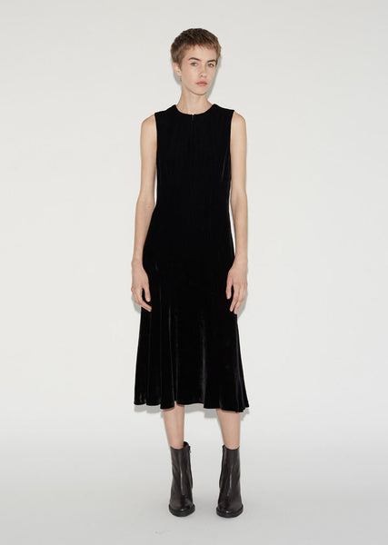 T by Alexander Wang Silk Velvet Midi Dress La Garconne