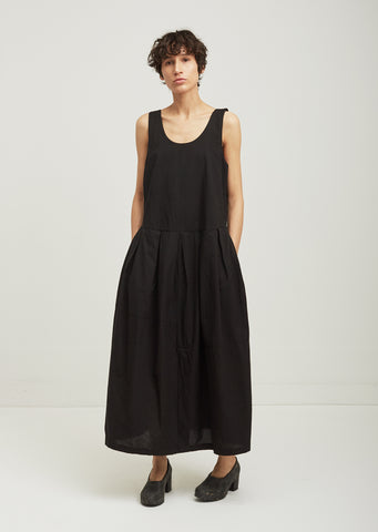 Patched Cotton Tank Dress