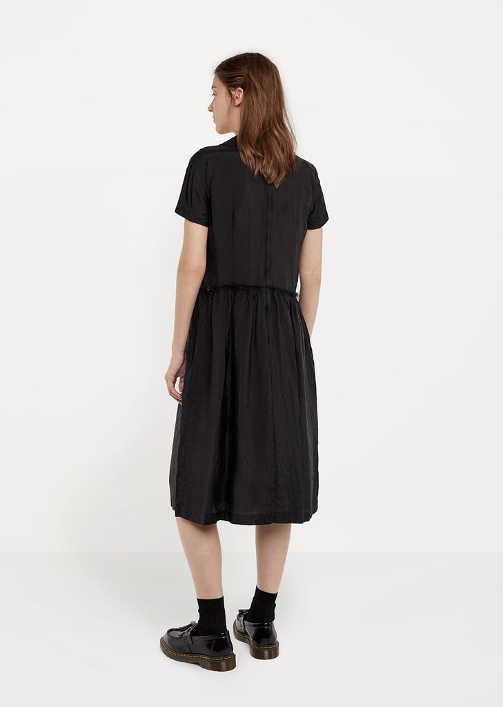 Crinkled Taffeta Shirtdress
