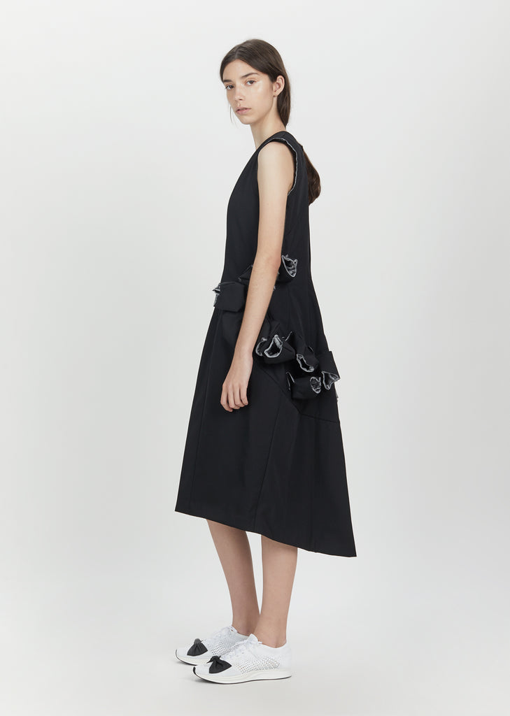 Wool Gabardine Bonding Treated Dress