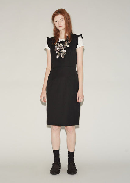 Wool Garbardine Button Dress